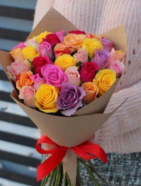Букет 25 роз кении