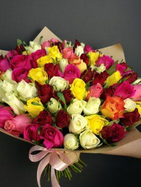 Букет 75 роз кении
