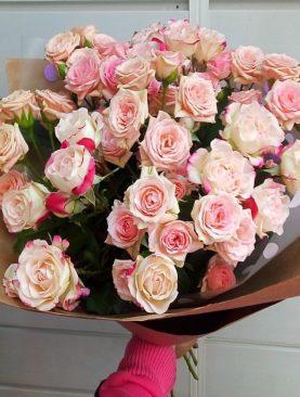 Букет 9 кустовых роз
