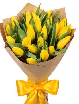 Букет из 25 тюльпанов Желтый