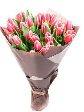 Букет из 25 тюльпанов Розовый